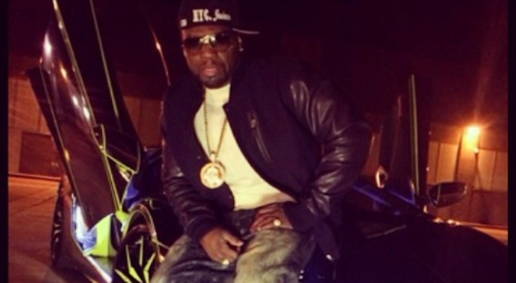 50 Cent Is All About Team Salamone S Tron Aventador