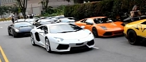 50 Lamborghinis Eat Tarmac Together [Video]