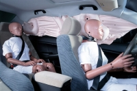 The seatbelt can prevent your body from being hit by the airbag