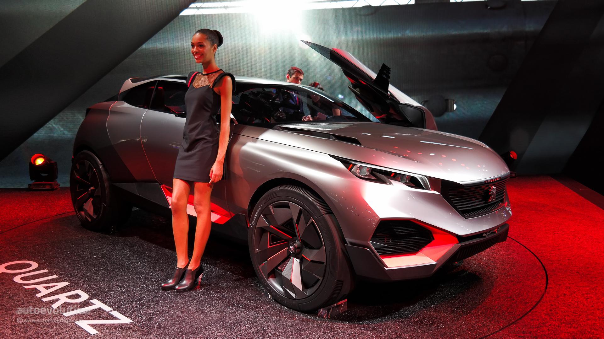 500 hp peugeot quartz concept previews future french suv at paris 2014 live photos autoevolution. Black Bedroom Furniture Sets. Home Design Ideas