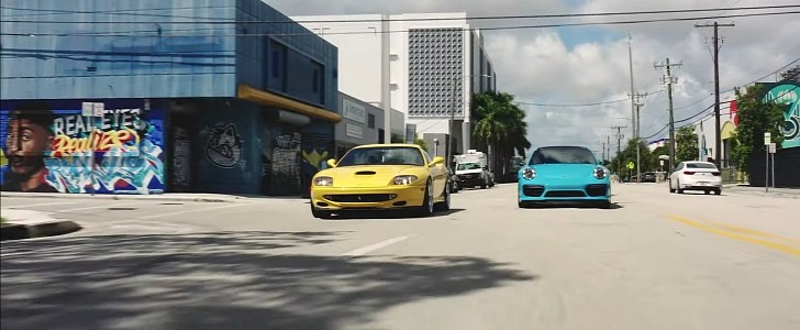 550 Maranello and 911 Turbo S Make a Tasty Pair for Driving to Miami Beach