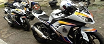 560 Kawasaki Ninja 250R Malaysian Police Bikes on Parade [Video]