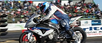 57 y.o. South African Pilot Rides BMW S1000RR to Major Drag Victory