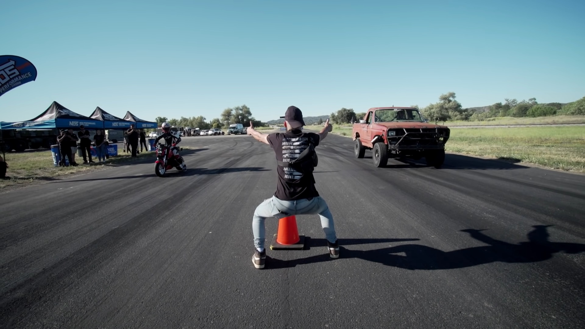 650-HP Ford Bronco vs. 40-HP Honda Grom Drag Race Is Crazy On Every Level