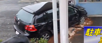 69YO Woman Drives VW Golf Off Third Floor of Parking Garage [Video]