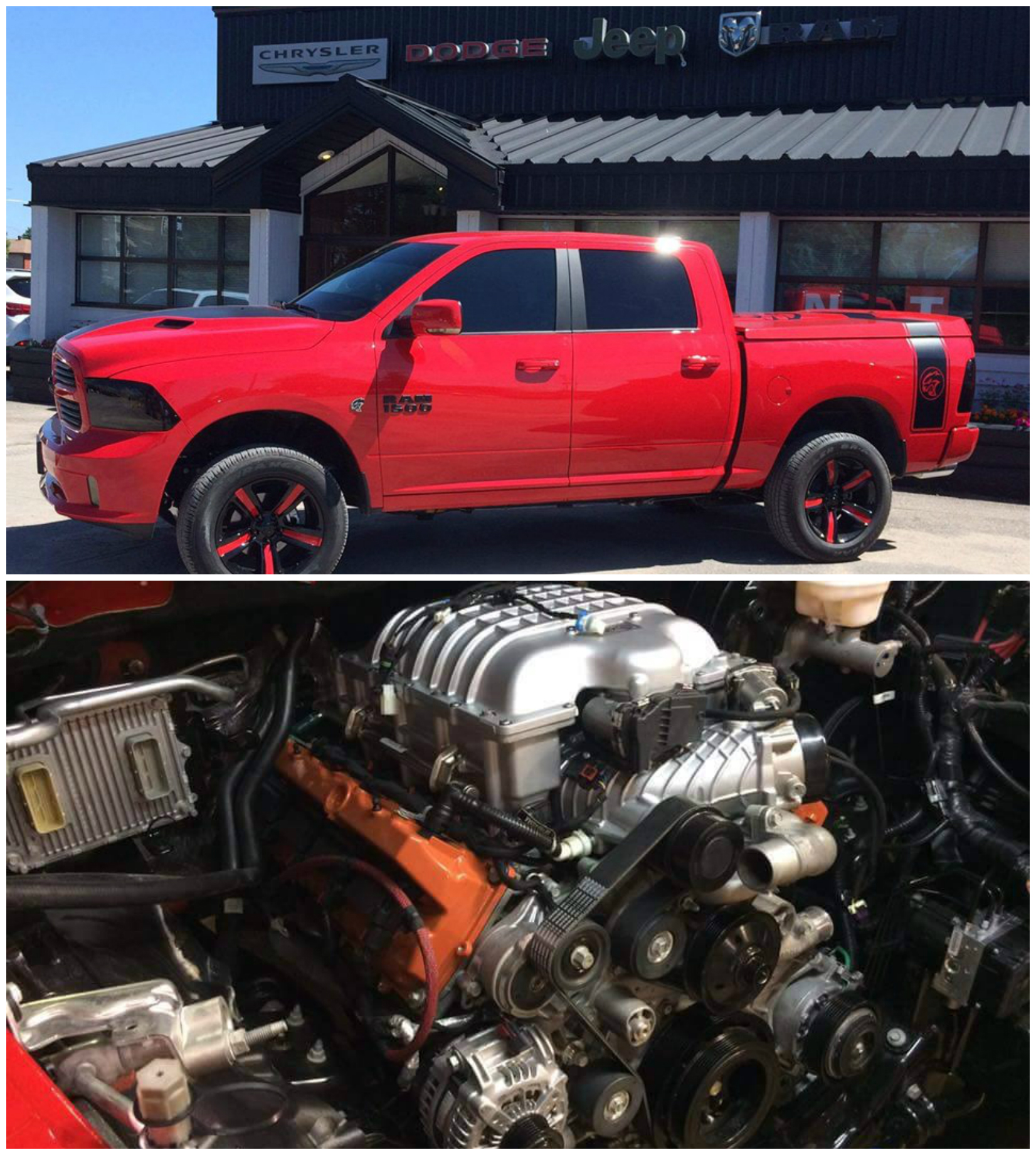 707 HP Hellcat-Powered 2016 Ram 1500 Built in Canada Becomes