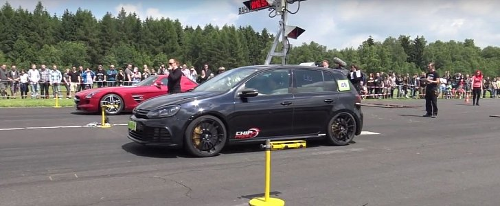 745 Hp Vw Golf R Sleeper Goes Drag Racing With Submarine