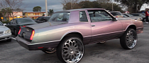 80's Chevy Monte Carlo Donk on Huge Forgiato Wheels [Video]
