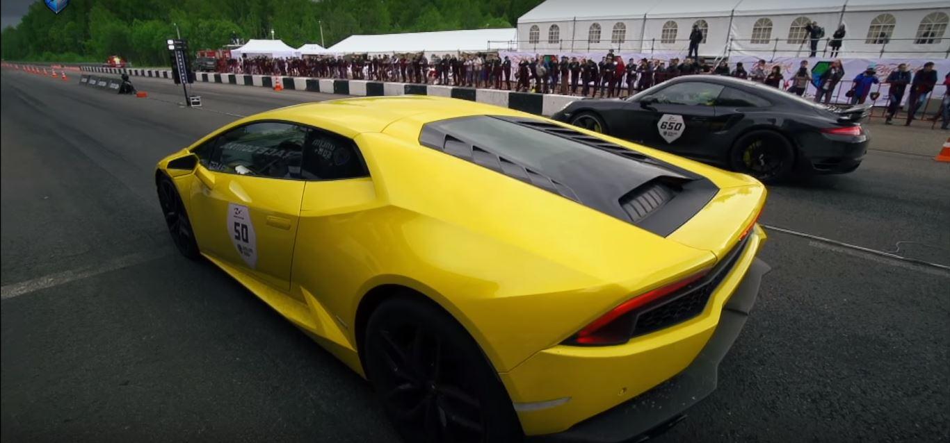 800 hp blown lamborghini huracan drag races 650 hp porsche 911 turbo s in russia autoevolution. Black Bedroom Furniture Sets. Home Design Ideas