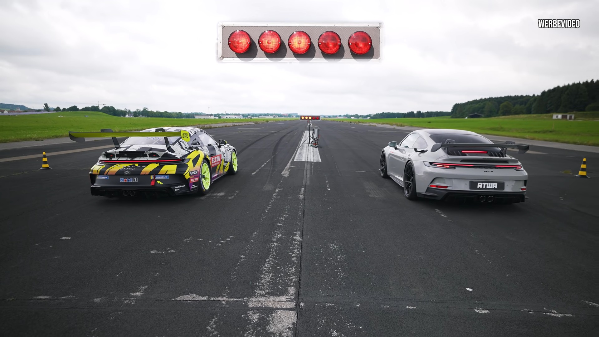 992 Porsche 911 GT3 vs. 992 Porsche 911 GT3 Cup Drag Race Is Unbelievably Loud