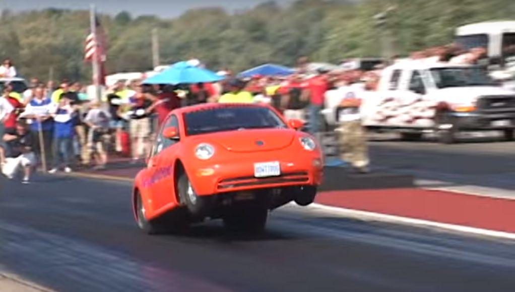 9s Big Block VW New Beetle Sips Nitrous to Pull Wheelies - autoevolution