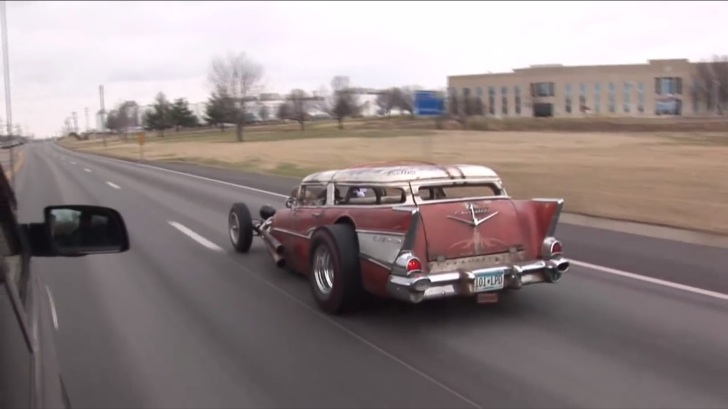 A 1957 Chevy Wagon Rat Rod Like You Ll Never See Again Autoevolution
