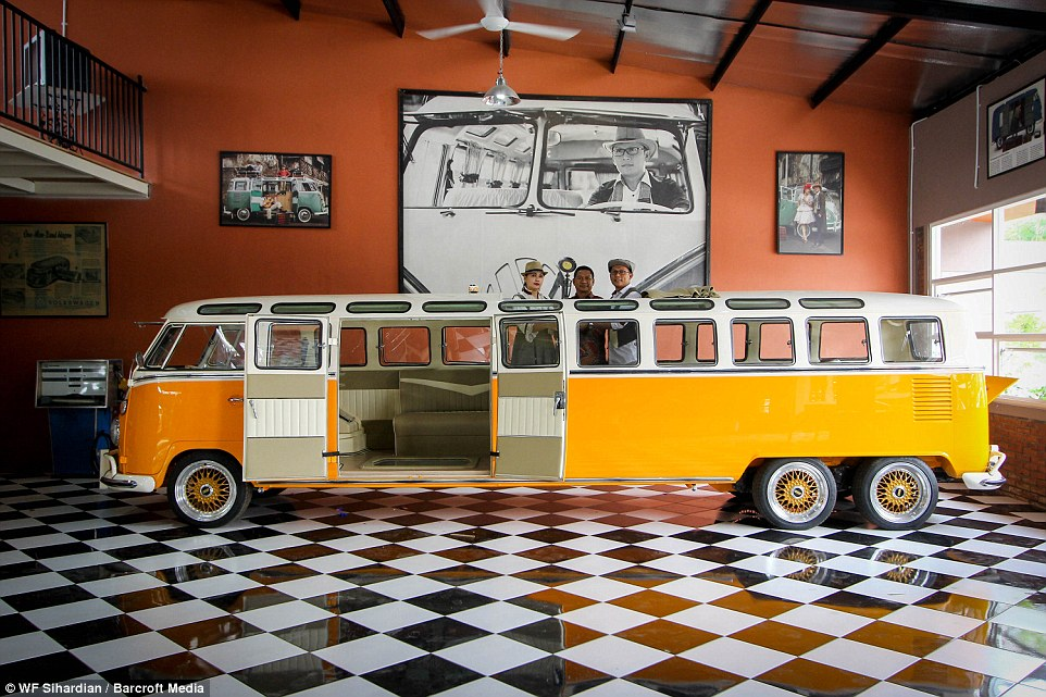 This Volkswagen Type 2 Is Probably The Worlds Longest Hippie Wagon