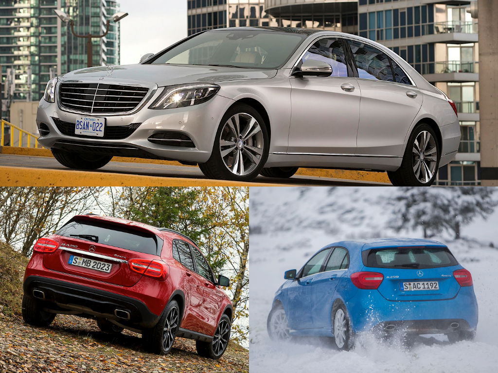 A class gla and s class 4matic win all wheel drive awards for Mercedes benz different models
