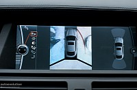 The all-round view parking camera display in a BMW X6 ActiveHybrid