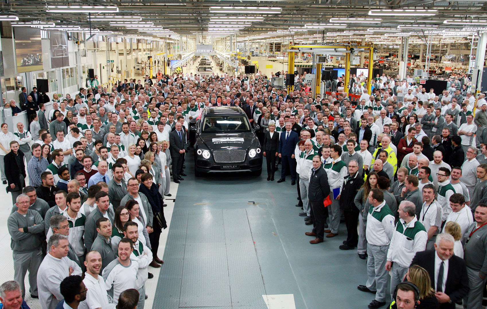 A New Segment Is Created: First Bentley Bentayga Rolls Off the ...