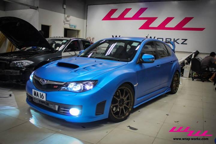 on Subaru World Rally Blue