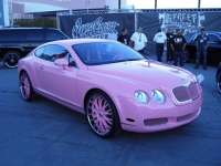 Paris Hilton loves everything pink - including her Bentley