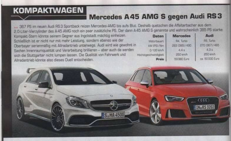 a45 amg s to get 385 hp and a new bumper to compete with. Black Bedroom Furniture Sets. Home Design Ideas