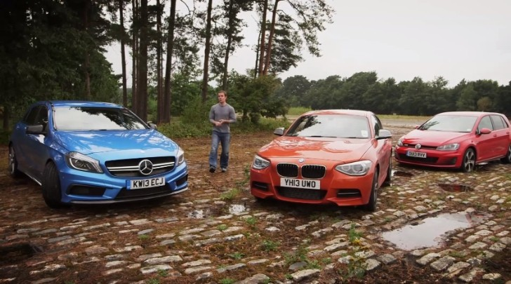 A45 AMG vs M135i vs Golf GTi by Which Car [Video]