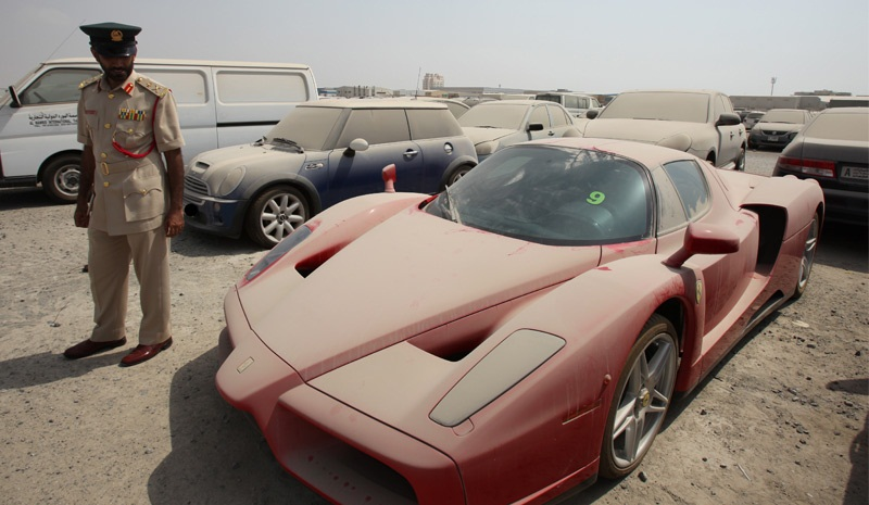 Impound Cars For Sale >> Dubai Police Receives 1 6m Bid For Impounded Ferrari Enzo Can T