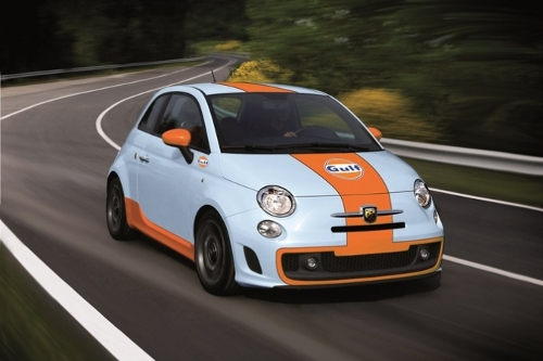 Abarth 500 Gulf Limited Edition Unveiled Autoevolution