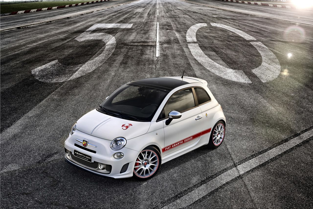 abarth 595 50th anniversary edition with 180 hp revealed. Black Bedroom Furniture Sets. Home Design Ideas