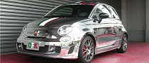 Abarth 695 Tributo Ferrari Gets Chrome Wrap from Office K [Video]