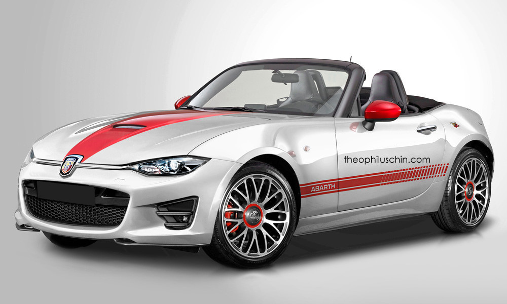 abarth roadster rendered based on 2016 mazda mx 5 autoevolution. Black Bedroom Furniture Sets. Home Design Ideas