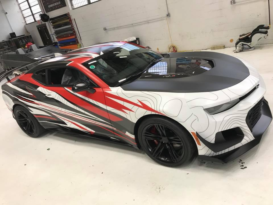 Abstract Wrap 2018 Chevrolet Camaro Zl1 1le Looks Like An