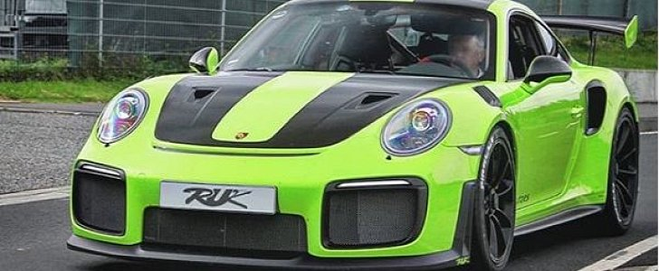 Acid Green 2018 Porsche 911 Gt2 Rs Rendered As Ticking
