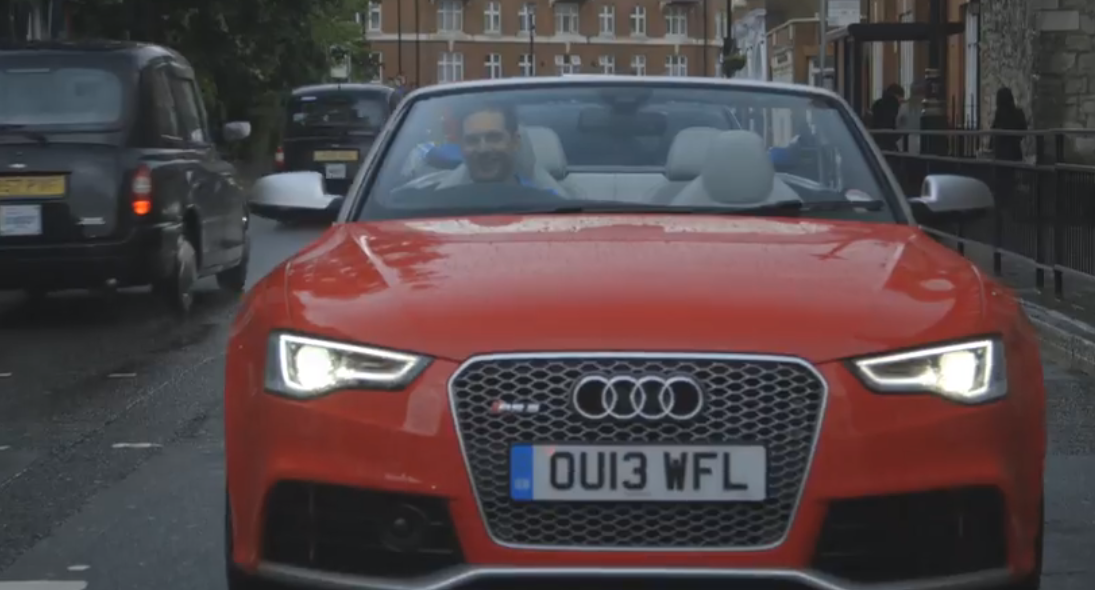 Actor Tom Hardy Tests The Audi Rs5 Cabrio In The Rain