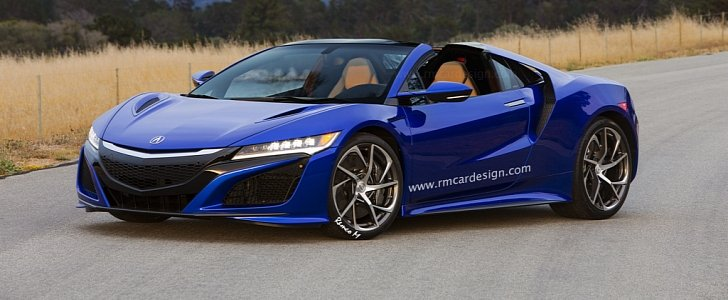 acura honda nsx imagined as a targa model we think it looks sexy autoevolution. Black Bedroom Furniture Sets. Home Design Ideas