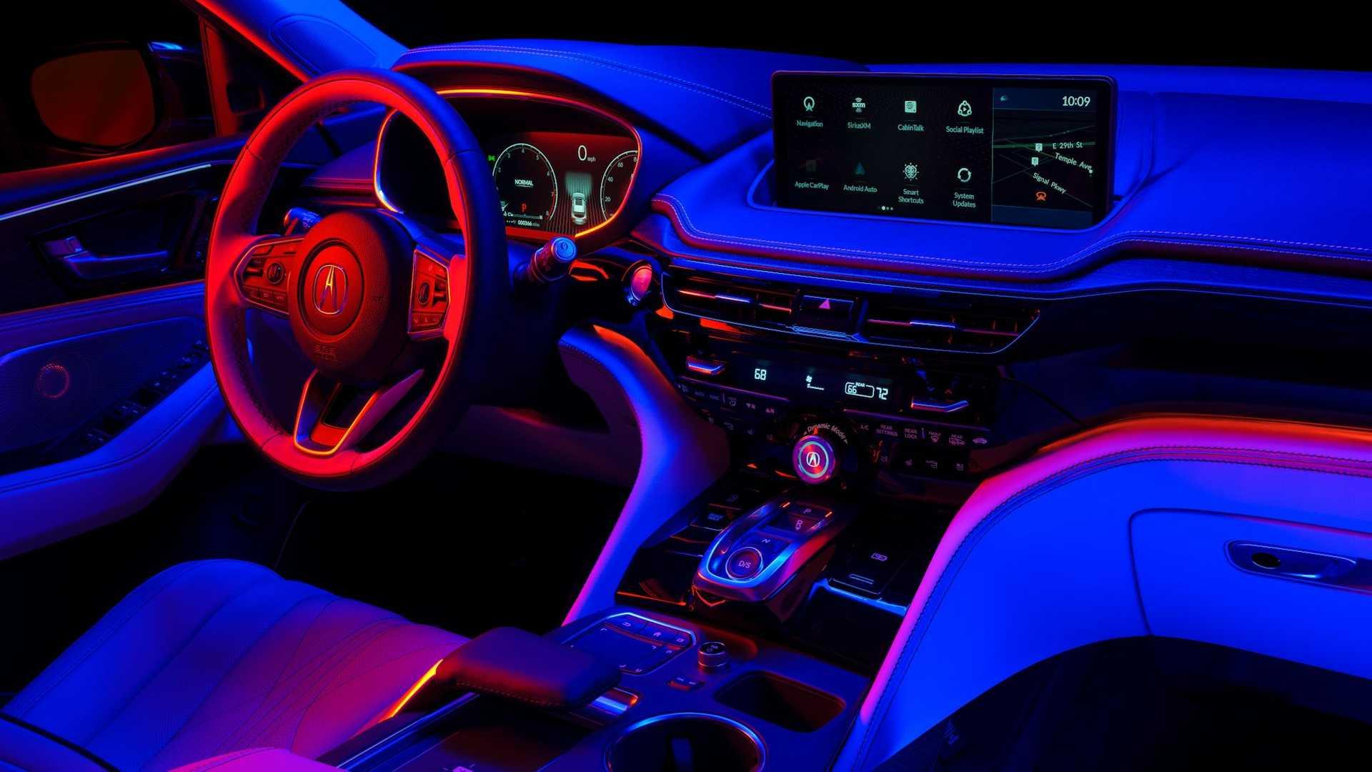 Acura MDX teaser photos show an upscale interior