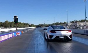 Acura NSX Drag Races 700 HP Corvette, Sets 1/4-Mile World Record