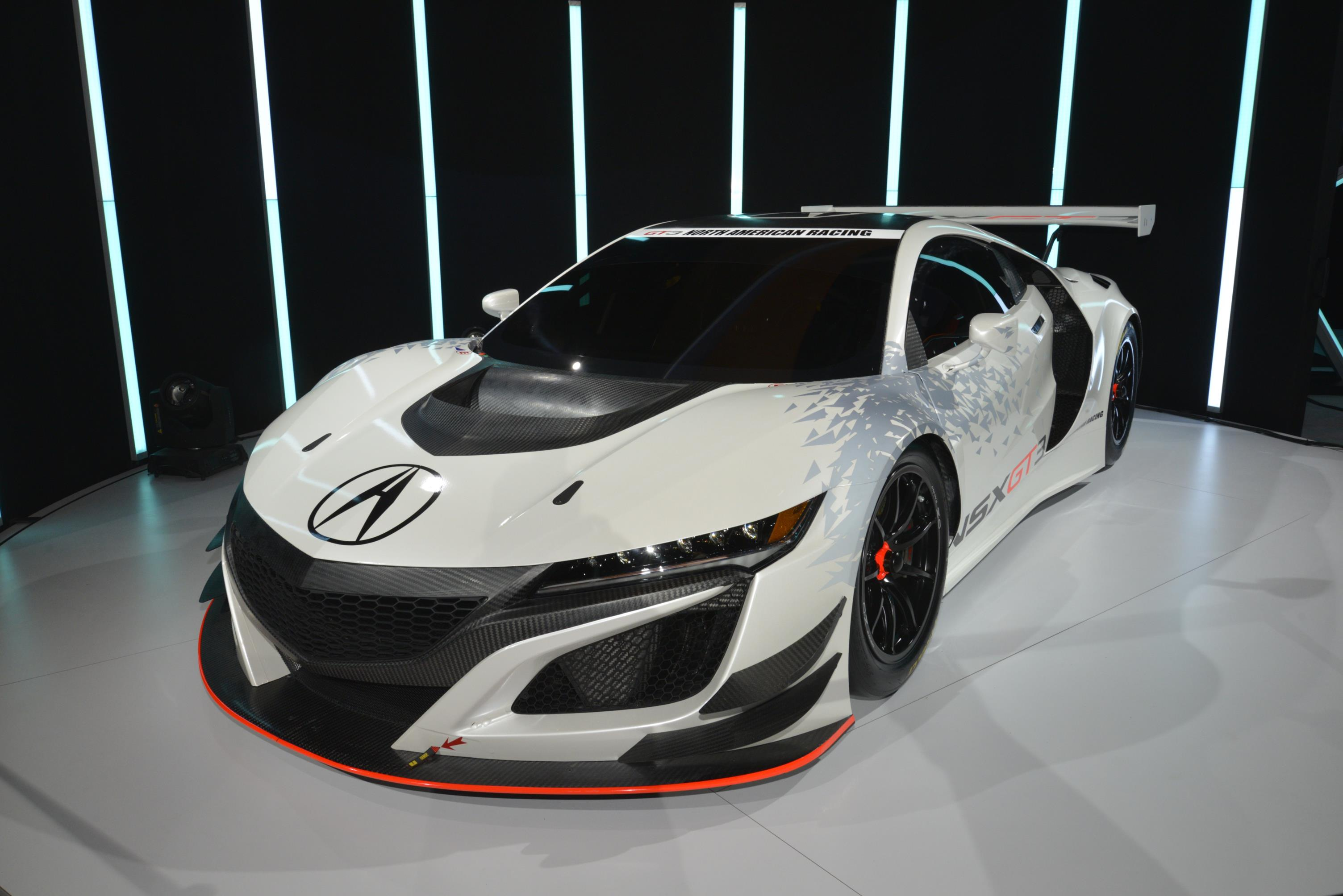 acura nsx gt3 hits new york as pure racecar no hybrid means rwd autoevolution. Black Bedroom Furniture Sets. Home Design Ideas