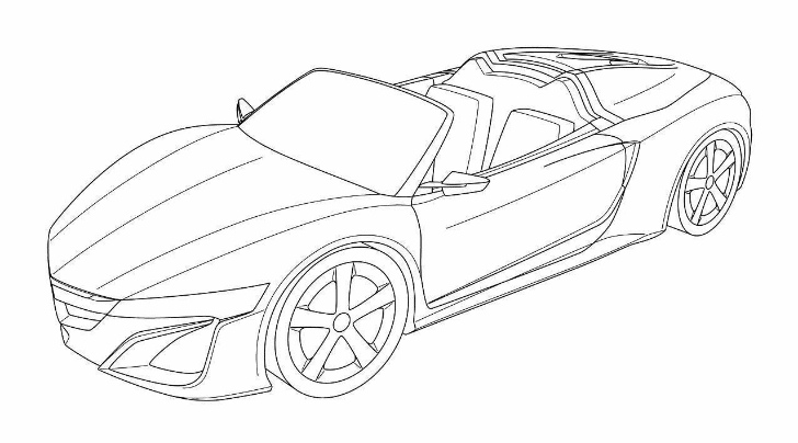 Acura NSX Roadster Leaked via Patent Drawings