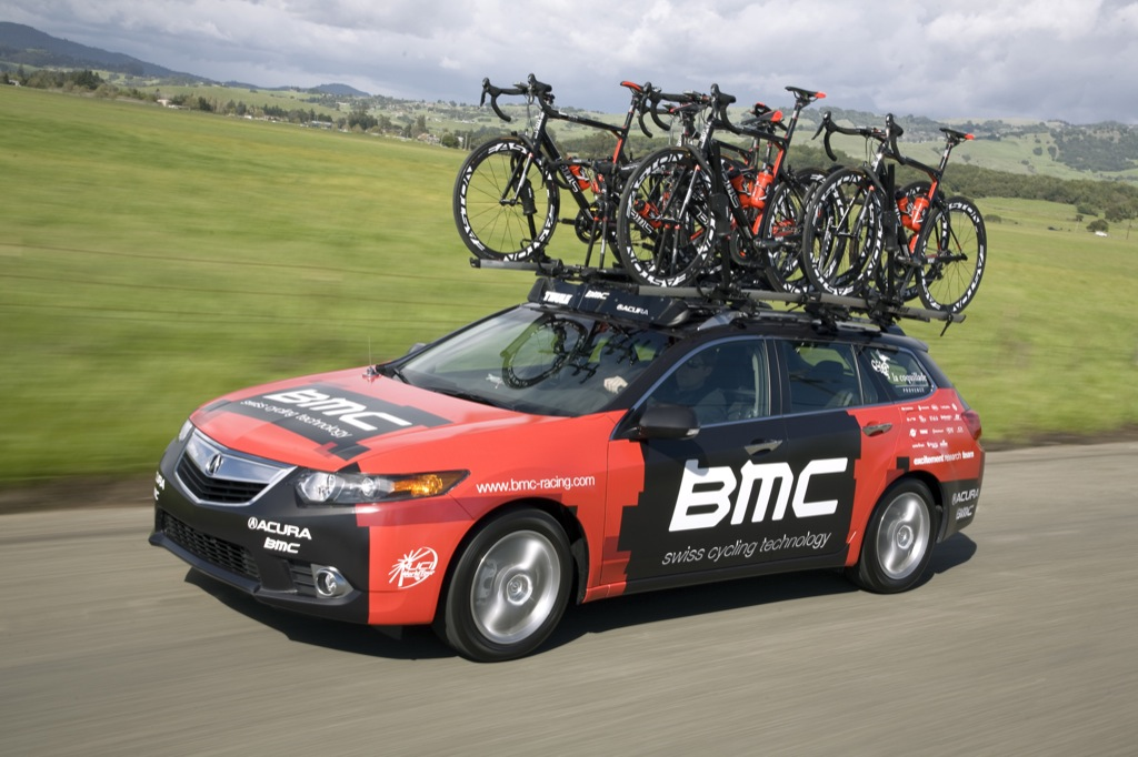 Acura TSX Sport Wagon Is Official Vehicle Of The BMC Racing Team - Acura tsx roof rack