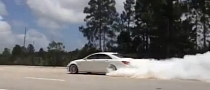 ADV.1 Wheels Take Mercedes CLS63 AMG for a Burnout [Video]
