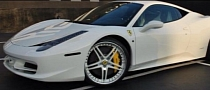 Akon Drives a White Ferrari 458 Italia [Video]