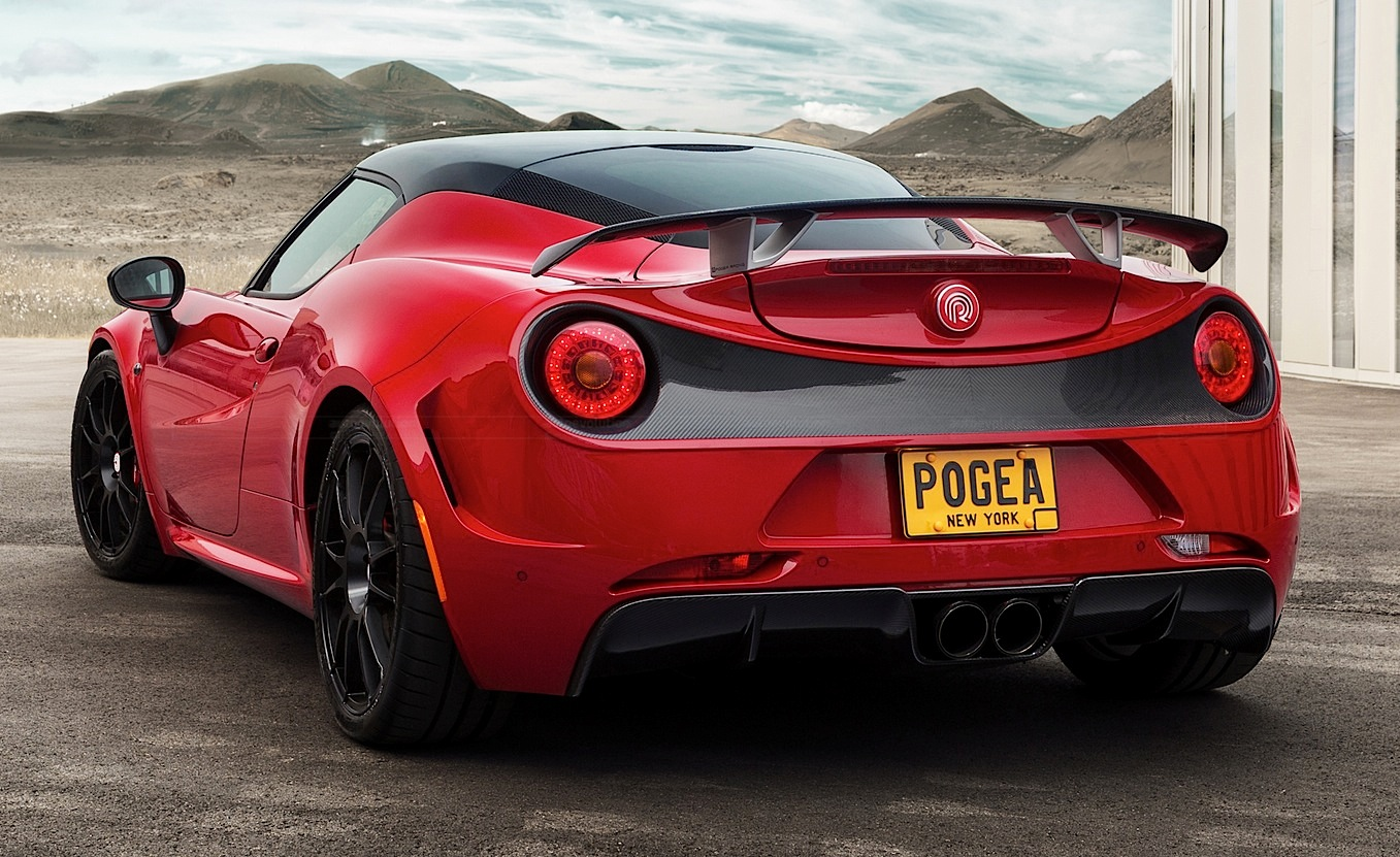 alfa romeo 4c by pogea racing has 313 hp and a carbon wing autoevolution. Black Bedroom Furniture Sets. Home Design Ideas