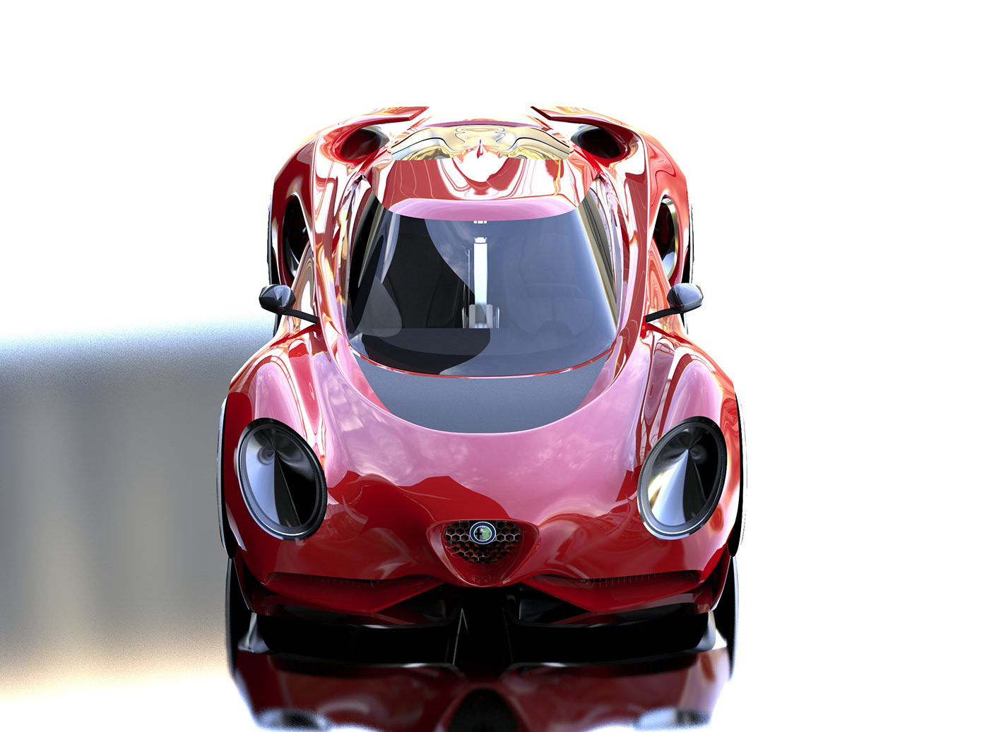 Alfa Romeo 4c Study Combines Retro And Futuristic Design Autoevolution