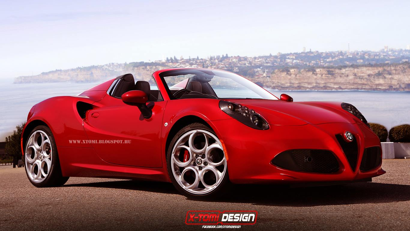 alfa romeo 4c spider rendering autoevolution. Black Bedroom Furniture Sets. Home Design Ideas