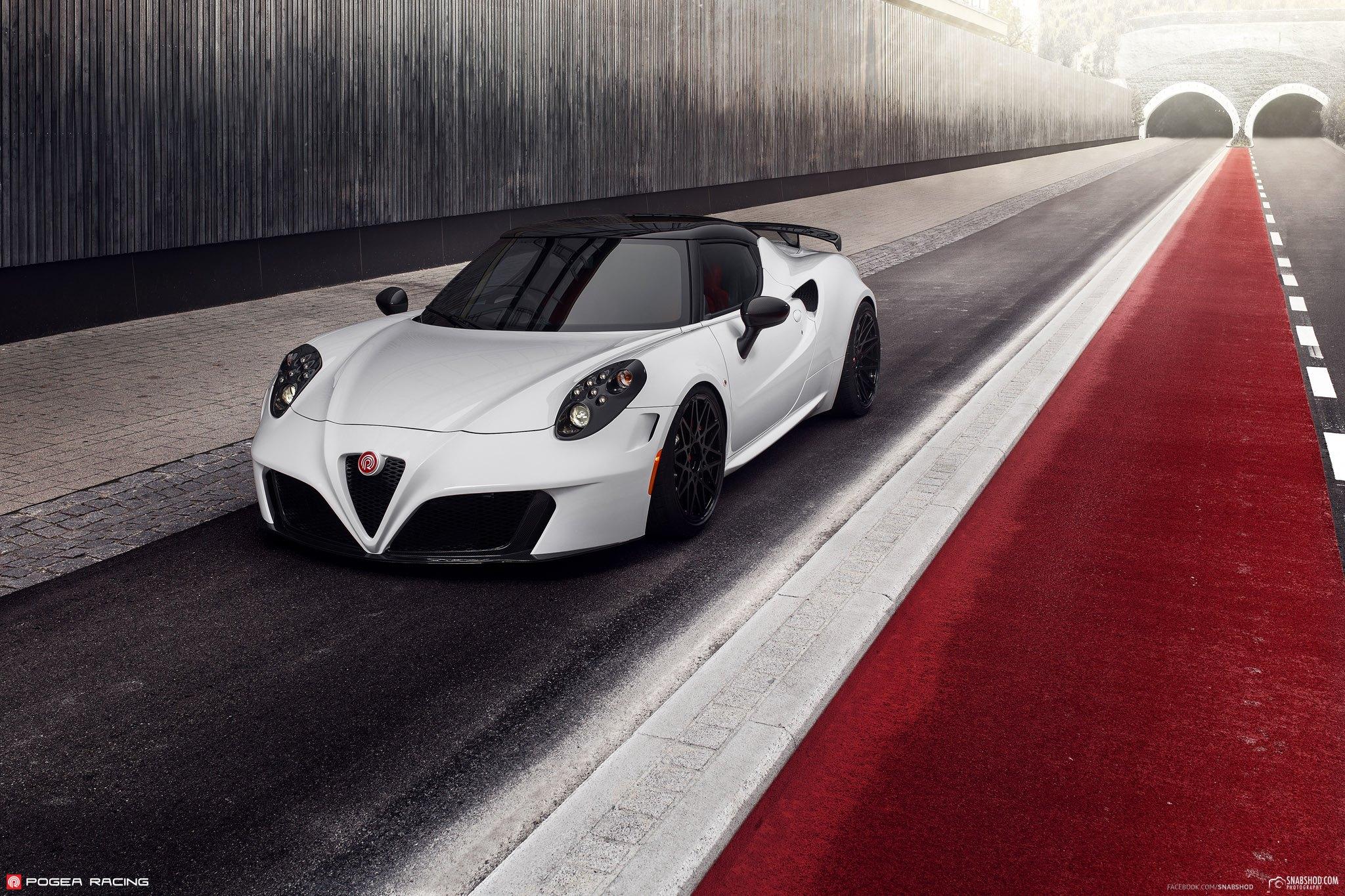 alfa romeo 4c tuned by pogea racing italian beauty meets. Black Bedroom Furniture Sets. Home Design Ideas