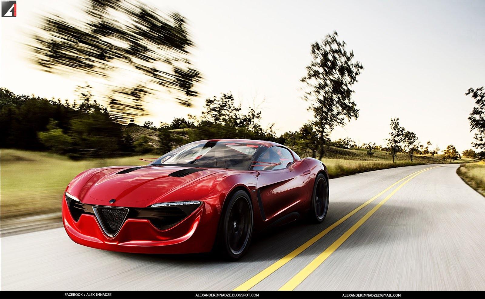 alfa romeo 6c concept the italian musclecar autoevolution. Black Bedroom Furniture Sets. Home Design Ideas