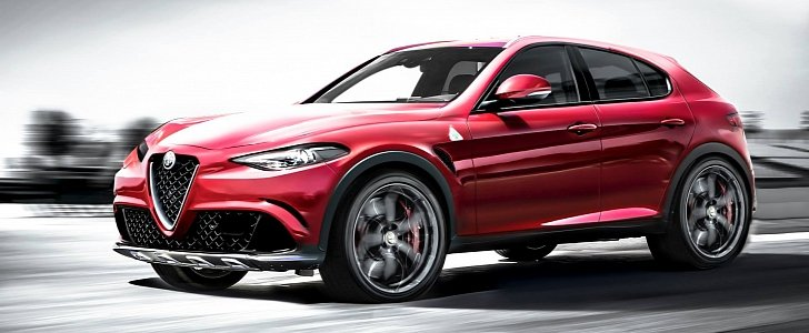 alfa romeo d suv rendered with giulia styling we want one now autoevolution. Black Bedroom Furniture Sets. Home Design Ideas