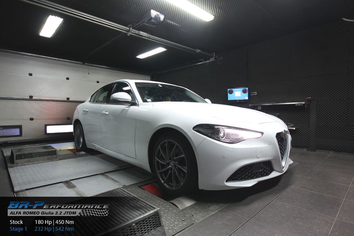 alfa romeo giulia 2 2 diesel tuned to 232 hp by br-performance