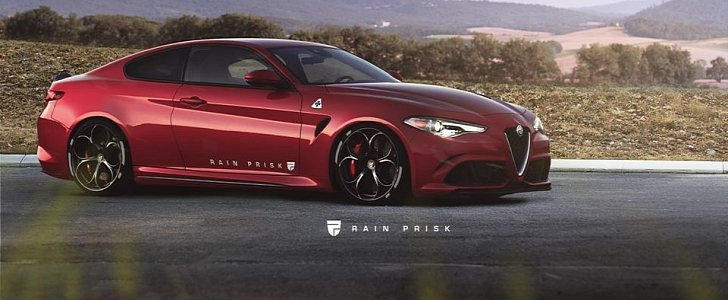 alfa romeo giulia coupe rendered as the sprint towards alfa 39 s true revival autoevolution. Black Bedroom Furniture Sets. Home Design Ideas