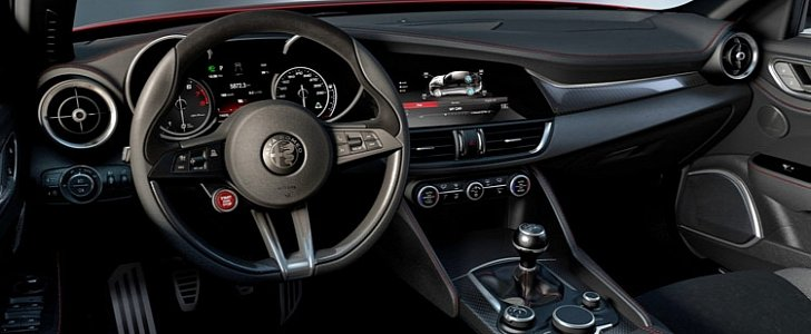 Alfa romeo giulia qv interior leaked online it s just as for Alfa romeo 159 interieur