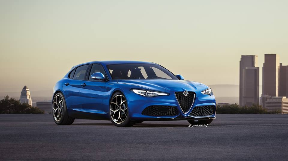 alfa romeo giulia veloce hatchback render a stunning 2018 rwd giulietta preview autoevolution. Black Bedroom Furniture Sets. Home Design Ideas